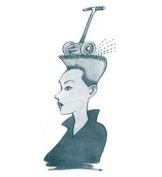Стрижка, окрашивание, расчесывание волос.